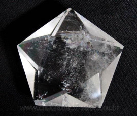 Pentagrama Simbolo Wicca Pedra Quartzo Cristal Estrela 5 pontas de 20  a 50 Gr