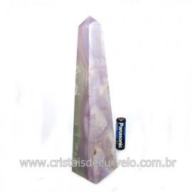 Obelisco Pedra Fluorita Multicolor Natural Garimpo Cod 121772