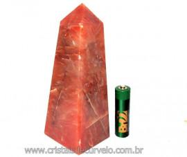 Obelisco Aragonita Vermelho Pedra Natural Mineral Cod OA9037