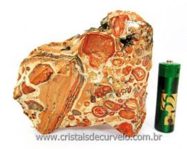 Leopardita ou Jaspe Leopardo Natural Da Africa Pedra Para Colecionador Cod 365.4
