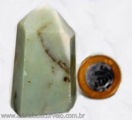 Ponta Pirofilita Verde Gerador Pedra Com Dendrita Cod 101498