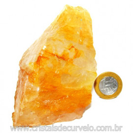 Hematoide Amarelo Pedra Bruto Quartzo Natural Cod 114644