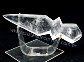 Adaga ou Athame Faca Pedra Cristal Natural Esoterico Cod AF7796