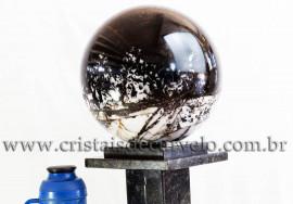 Esfera Gigante 40kg Turmalina Preta no Quartzo Cod 109158