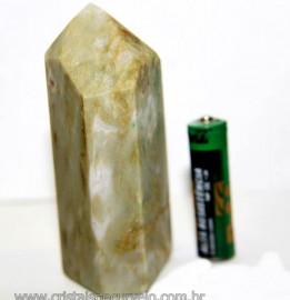 Ponta Nefrita Lapidado Pedra Natural de Garimpo Cod 101468
