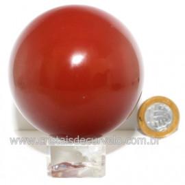 Esfera Jaspe Vermelho Natural Lapidado Manualmente Cod 122722