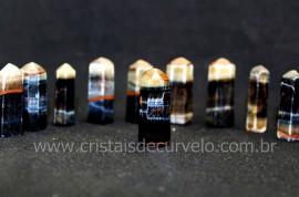 10 Pontinha Gerador OLHO DE FALCAO Pedra Extra Lapidado Tamanho 2.5  Cm