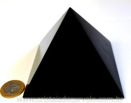 Pirâmide GRANDE Pedra Obsidiana Negra Natural Queops cod PG6647