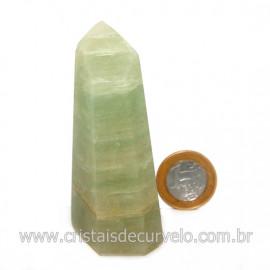 Ponta Pedra Onix Verde Lapidação Gerador Sextavado Cod 128696