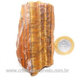 Olho de Tigre Pedra Extra Bruto Natural da África Cod 121220