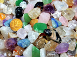 1kg Pedra Rolado Misto Medio Tipo Comum REF 203503