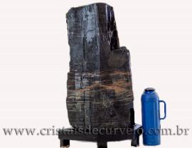 Canudo Gigante 76kg Turmalina Preta Natural Na Base 111564