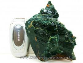 Jaspe Verde Pedra de Garimpo Cor Forte e Natural Ideal Colecionador Esoterismo Cod 507.5