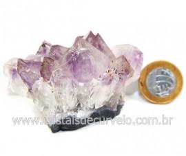 Drusa Ametista Pequena Pedra Natural Boa Cor Cod 127700