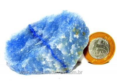 Quartzo Azul ou Aventurina Azul Pedra Bruto Natural Cod QA2850