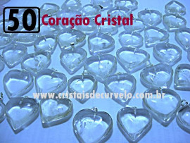 50 Coração CRISTAL Pedra Quartzo Pingente Banhado Prata