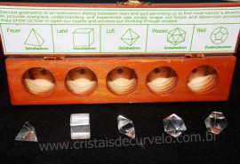 Kit Radionico Cristais Solido de Platao Pedra natural Multi Facetado REF 257.9