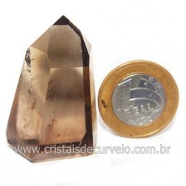 Ponta Citrino Natural e Fume Pedra Quartzo Bi Color 118126