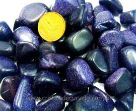 Pedra Estrela Azul Pacotinho 100g Pedra Rolada Boa Qualidade Reff PE1148
