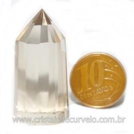Voguel Cristal Com tok fume 01 Ponta Pedra Natural 12 Facetas Cod 123397