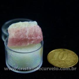 Turmalina Rosa Bruta Pedra Natural No Estojo Cod 126959