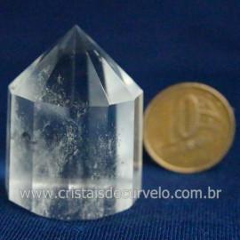 Voguel Cristal 01 Ponta Pedra Natural 12 Facetas Cod 123395