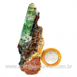 Vivianita Extra Pedra Matriz Siderita Bruta Natural Cod 127871