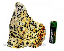 Jaspe Dalmata Pedra Natural Mineral de Esoterismo Cod JD5838