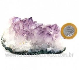 Drusa Ametista Pequena Pedra Natural Boa Cor Cod 127692