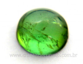 Gema Turmalina Verde Lisa Pedra Natural 1.7ct 7mm Reff TV4916