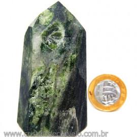Ponta Epidoto Verde Na Matriz Ideal Para Coleção Cod 113186