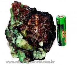 Esmeralda Canudo Incrustado Xisto Pedra Natural Cod CE3836
