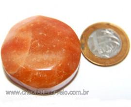 Massageador Cabochão Quartzo Laranja Pedra Natural Cod 111078