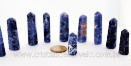 10 Pontinha Gerador SODALITA Pedra Extra Lapidado Tamanho 2.5  Cm