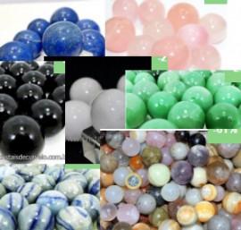 10 Mini Bola Pedra Misto Esfera Pequena Em Pedra Natural ATACADO
