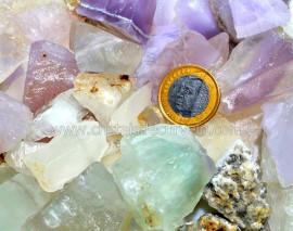 1kg Cascalho Fluorita Multicolor Pedra Bruto Pra Orgonite Reff CA1052