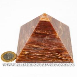 Pirâmide GRANDE Pedra Aragonita Vermelha Natural Queops 120715