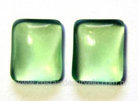 Par Retangulo Obsidiana Verde Natural Pra Brinco Reff RB1996