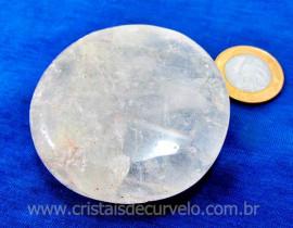 Massageador Disco Cristal Quartzo Massagem Terapeutica Com Pedras Cod MC145.3