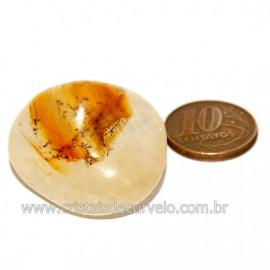 Hematoide Amarelo com Inclusão Dendrita Pedra Natural Cod 126209