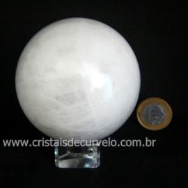 Esfera Quartzo Leitoso Bola Pedra Natural Garimpo Cod 119417