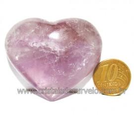 Coraçao Ametista Pedra Natural Ideal P/Presentear Cod 116122