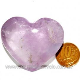 Coraçao Ametista Pedra Natural Ideal P/Presentear Cod 119158