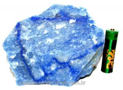 Quartzo Azul ou Aventurina Azul Pedra Bruto Natural Cod QA9454
