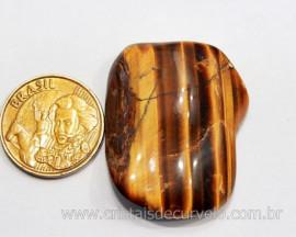 01 Olho de Tigre Rolado Pedra Natural Origem Africa Esoterismo Colecionador Ref 19.5