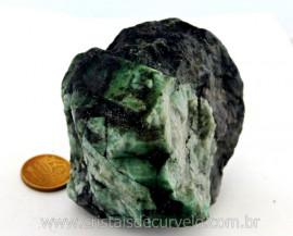 Esmeralda Bahia Canudo Incrustado no Xisto Pedra de Colecionador Cod 301.8