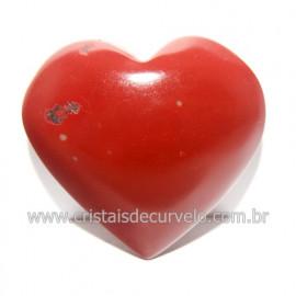 Coraçao Jaspe Vermelho Pedra Natural de Garimpo Cod 118256