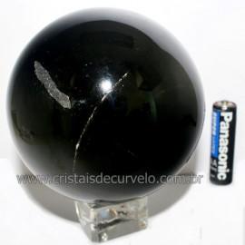 Esfera Obsidiana Negra Pedra Lava Vulcanica Natural Cod 113393