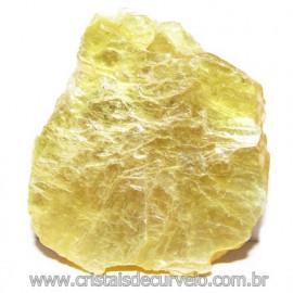 Chapa de Mica Amarela Bruta Natural de Garimpo Cod 115599