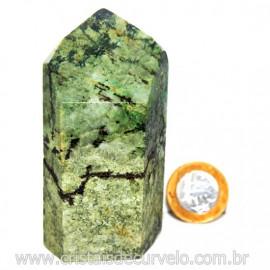 Ponta Malaquita Incrustado na Matriz Pedra do Sucesso Cod 127758
